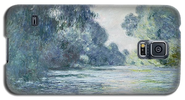Blue Galaxy S5 Cases - Branch of the Seine near Giverny Galaxy S5 Case by Claude Monet