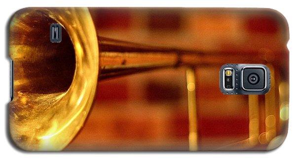 Music Galaxy S5 Cases - Brass Trombone Galaxy S5 Case by David  Hubbs