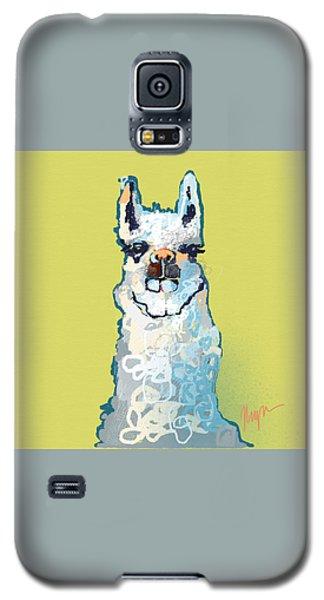 Bright Mustard Llama Galaxy S5 Case by Niya Christine