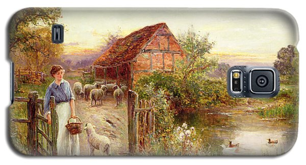 Bringing Home The Sheep Galaxy S5 Case by Ernest Walbourn