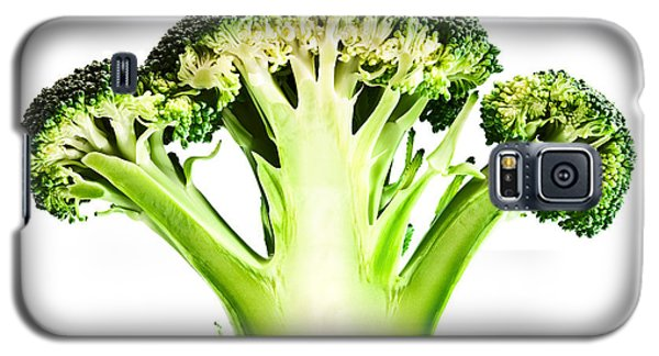 Broccoli Cutaway On White Galaxy S5 Case by Johan Swanepoel