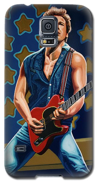 Bruce Springsteen The Boss Painting Galaxy S5 Case by Paul Meijering