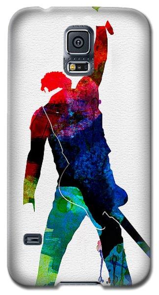 Bruce Watercolor Galaxy S5 Case by Naxart Studio