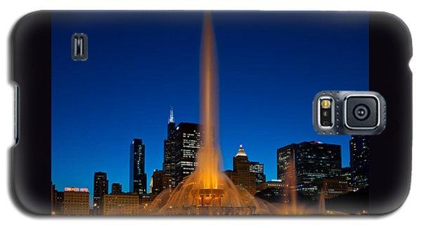 Buckingham Fountain Nightlight Chicago Galaxy S5 Case by Steve Gadomski