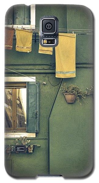 Green Galaxy S5 Cases - Burano - green house Galaxy S5 Case by Joana Kruse