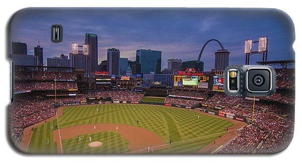 Busch Stadium St. Louis Cardinals Ball Park Village Twilight #3c Galaxy S5 Case by David Haskett