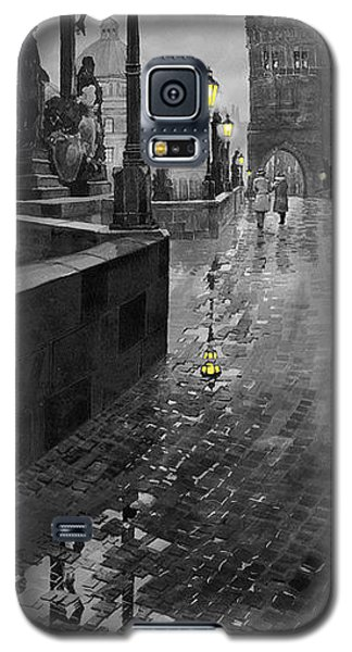 Galaxy S5 Cases - BW Prague Charles Bridge 01 Galaxy S5 Case by Yuriy  Shevchuk