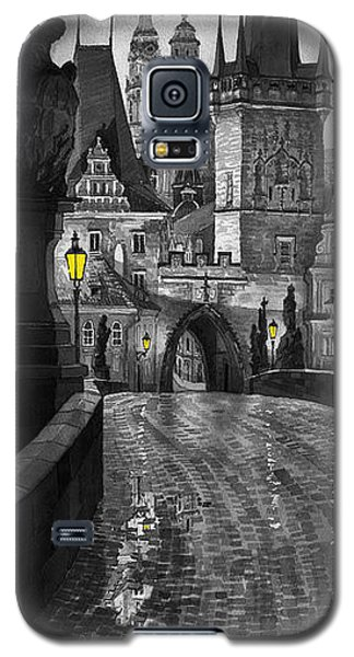 Galaxy S5 Cases - BW Prague Charles Bridge 03 Galaxy S5 Case by Yuriy  Shevchuk