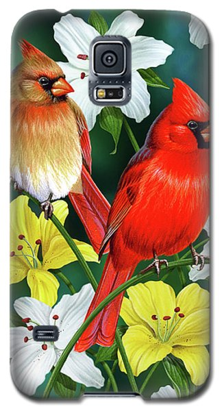 Plant Galaxy S5 Cases - Cardinal Day 2 Galaxy S5 Case by JQ Licensing