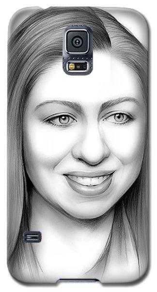 Chelsea Clinton Galaxy S5 Case by Greg Joens