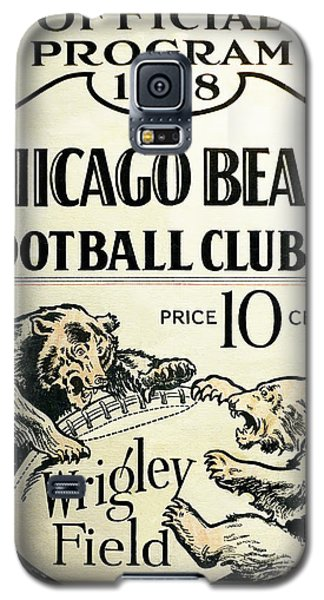 Chicago Bears Football Club Program Cover 1928 Galaxy S5 Case by Daniel Hagerman