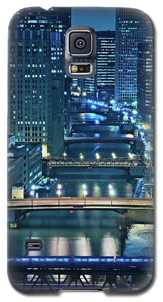 Architecture Galaxy S5 Cases - Chicago Bridges Galaxy S5 Case by Steve Gadomski