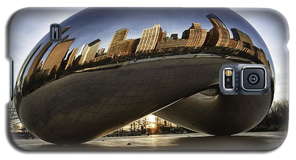 Landmarks Galaxy S5 Cases - Chicago Cloud Gate at Sunrise Galaxy S5 Case by Sebastian Musial