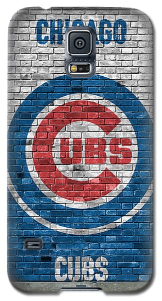 Chicago Cubs Brick Wall Galaxy S5 Case by Joe Hamilton