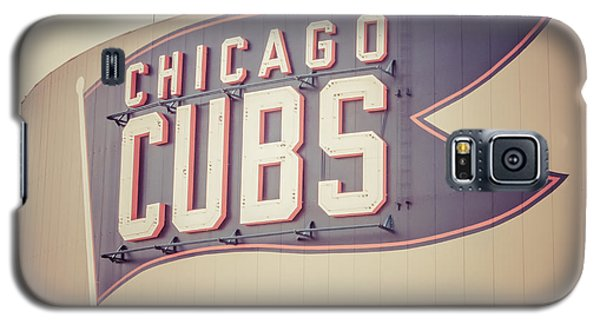 Chicago Cubs Sign Vintage Picture Galaxy S5 Case by Paul Velgos
