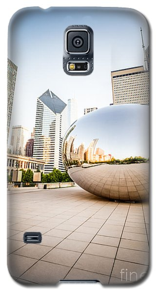 Chicago Gloud Gate And Chicago Skyline Photo Galaxy S5 Case by Paul Velgos