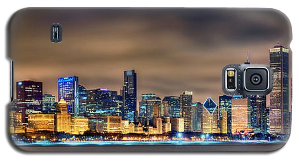 Chicago Skyline At Night Panorama Color 1 To 3 Ratio Galaxy S5 Case by Jon Holiday