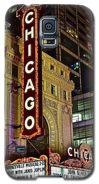 Chicago Theater Aglow Galaxy S5 Case by Frozen in Time Fine Art Photography