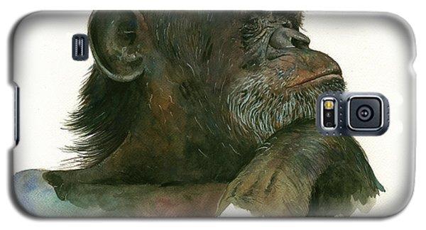 Chimp Portrait Galaxy S5 Case by Juan Bosco