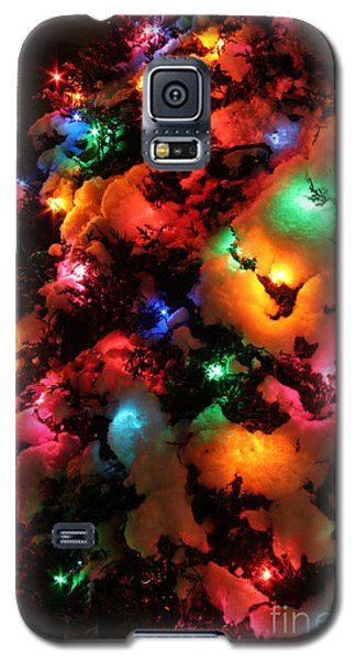 Christmas Lights Coldplay Galaxy S5 Case by Wayne Moran