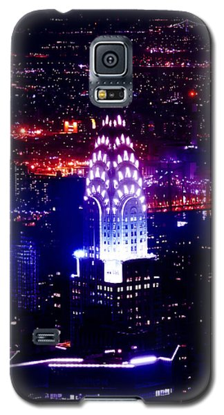 Chrysler Building At Night Galaxy S5 Case by Az Jackson
