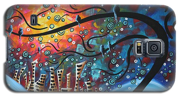 Blue Galaxy S5 Cases - City by the Sea by MADART Galaxy S5 Case by Megan Duncanson