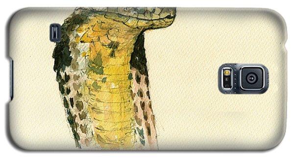 Cobra Snake Poster Galaxy S5 Case by Juan  Bosco