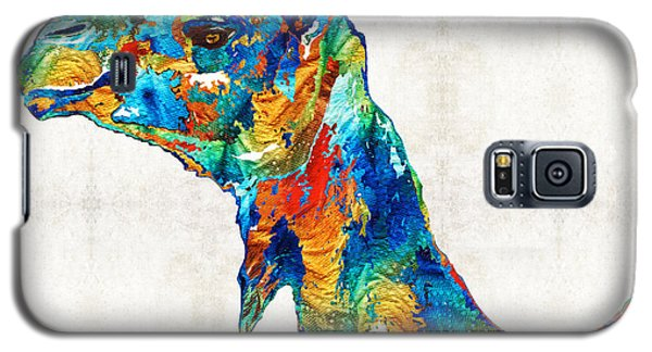 Colorful Camel Art By Sharon Cummings Galaxy S5 Case by Sharon Cummings