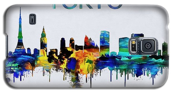 Colorful Tokyo Skyline Silhouette Galaxy S5 Case by Dan Sproul