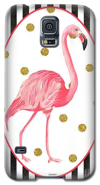 Contemporary Flamingos 2 Galaxy S5 Case by Debbie DeWitt