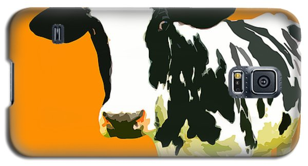 Cow In Orange World Galaxy S5 Case by Peter Oconor