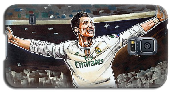 Cristiano Ronaldo Of Real Madrid Galaxy S5 Case by Dave Olsen