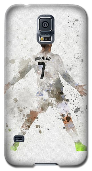 Cristiano Ronaldo Galaxy S5 Case by Rebecca Jenkins