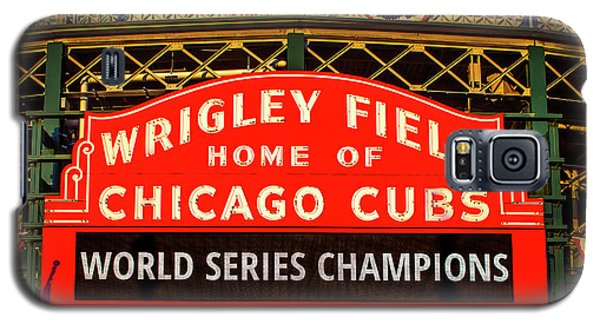 Cubs Win World Series Galaxy S5 Case by Andrew Soundarajan
