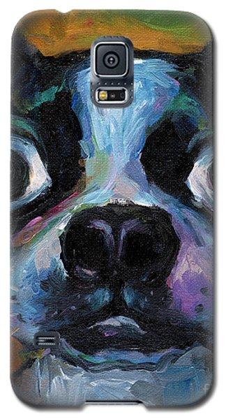 Cute Boston Terrier Puppy Art Galaxy S5 Case by Svetlana Novikova