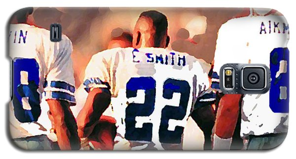 Dallas Cowboys Triplets Galaxy S5 Case by Paul Van Scott