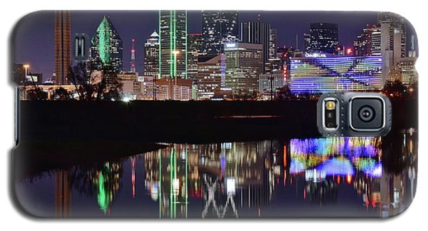 Dallas Reflecting At Night Galaxy S5 Case by Frozen in Time Fine Art Photography