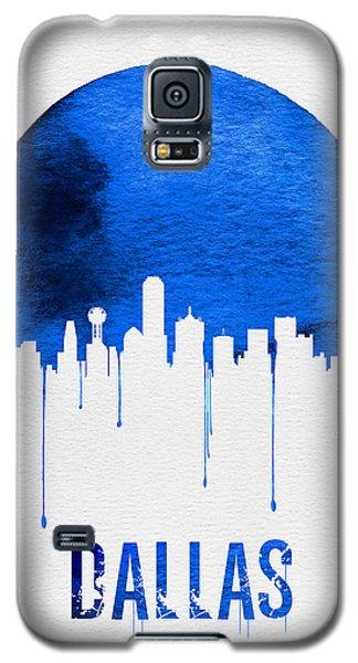 Dallas Skyline Blue Galaxy S5 Case by Naxart Studio