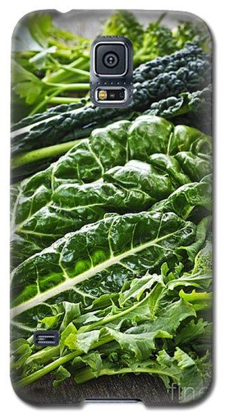 Dark Green Leafy Vegetables Galaxy S5 Case by Elena Elisseeva