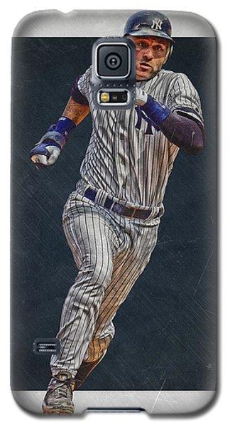 Derek Jeter New York Yankees Art 3 Galaxy S5 Case by Joe Hamilton