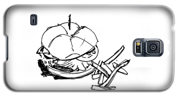 Diner Drawing Charbroiled Chicken 1 Galaxy S5 Case by Chad Glass