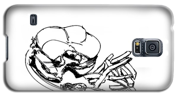 Diner Drawing Charbroiled Chicken 2 Galaxy S5 Case by Chad Glass