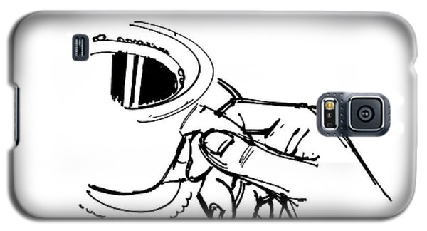 Diner Drawing Coffee In Hand Galaxy S5 Case by Chad Glass