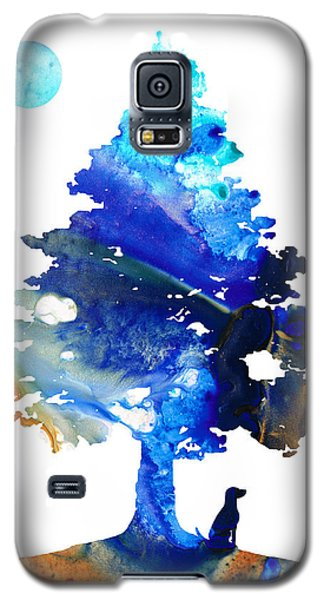 Dog Art - Contemplation - By Sharon Cummings Galaxy S5 Case by Sharon Cummings