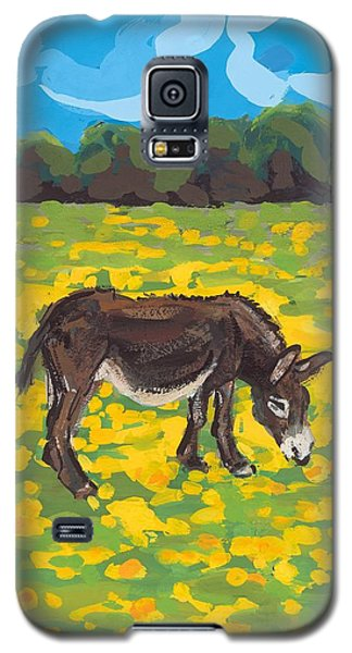 Donkey And Buttercup Field Galaxy S5 Case by Sarah Gillard