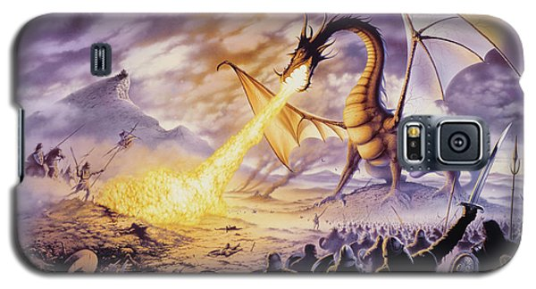 Dragon Battle Galaxy S5 Case by The Dragon Chronicles - Steve Re