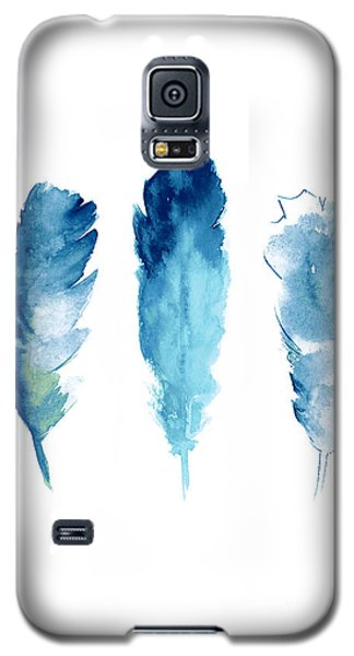 Dream Catcher Feathers Painting Galaxy S5 Case by Joanna Szmerdt