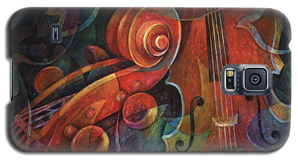 Music Galaxy S5 Cases - Dynamic Duo - Cello and Scroll Galaxy S5 Case by Susanne Clark