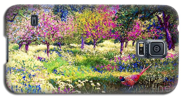 Echoes From Heaven, Spring Orchard Blossom And Pheasant Galaxy S5 Case by Jane Small