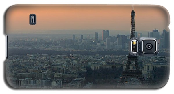 Landmarks Galaxy S5 Cases - Eiffel Tower at Dusk Galaxy S5 Case by Sebastian Musial